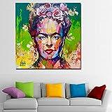 Faicai Art Frida Kahlo Porträt-Drucke Pop Art Gemälde,