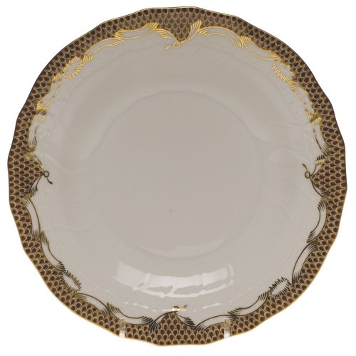Herend Fish Scale Brown Porcelain Desert Plate
