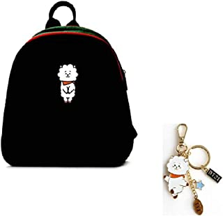 PINGJING BTS Bangtan Boys New Fashion Korea Style Cartoon Cute Causal Shoulder Bag Student Backpack Small Daypacks Purses for Girls and Women