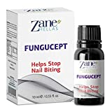 Zane Hellas FunguCept. Helps Stop Nail Biting and Thumb Sucking Habit. For Healthy Nails. No Bite. Controls and Prevents Nail Biting 100% Herbal Solution. 0.33 fl. Oz - 10 ml