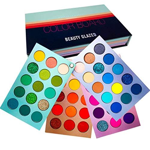Beauty Glazed Meet You Match 60 Farben Schimmer Matt und Glitter Lidschattenbehälter Weiche cremige...