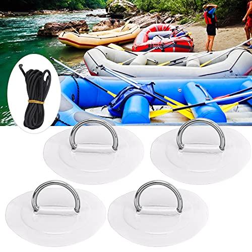 Wosune Parche de Anillo en D para Kayak, Parche de Anillo en D Parche de Anillo en D para Kayak Parche de Anillo en D para Bote Inflable(White Patch)