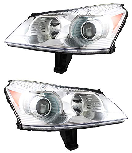 For Chevrolet Chevy Traverse Ltz Model Headlight 2009 2010 2011 Driver and Passenger Side Headlamp Assembly Replacement