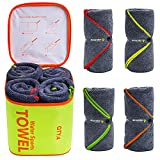 4Monster 4 Pack Microfiber Bath Towel Camping...