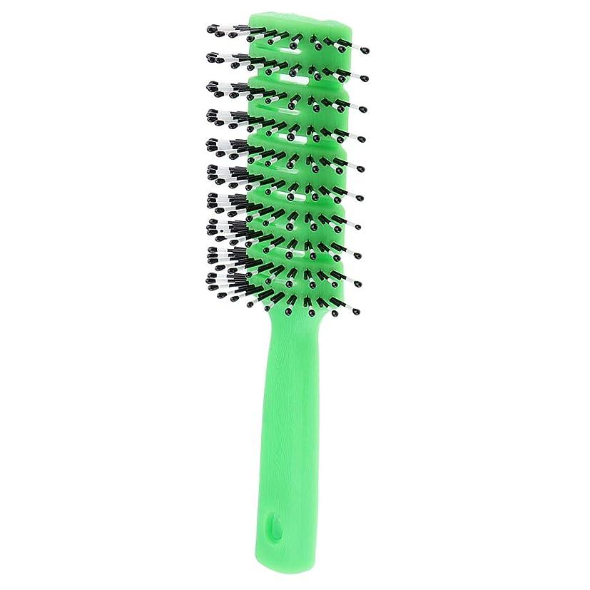 責めゆるい政権B Baosity ヘアコーム 静電防止櫛 ヘアブラシ 3色選べ - 緑