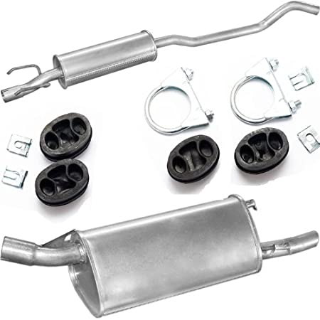 Abgasanlage Abgasanlage ESD 1220-21568 MSD Endschalld/ämpfer Abgasanlage komplett ab Kat Schalld/ämpfer Mittelschald/ämpfer