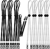 Pack 14 cordones negro y gris plata para mascarillas salvaorejas para evitar contaminación