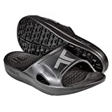 Telic Unisex Recharge Slide - Comfort Sandals for Men and Women, Midnight Black/Gray, XS