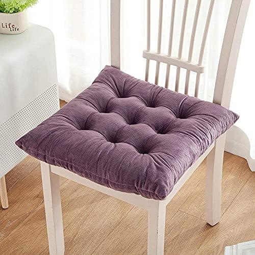 YANJ Comodi Cuscini per sedie, Cuscino per Sedia Invernale in Tinta Unita, Cuscino per l'apprendimento dell'home Office, Cuscino sedentario-K_40 * 40 cm, Cuscino per Sedile
