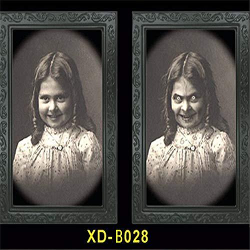 Studio 21 Graphix Halloween Decoration 3D Changing Face Moving Picture Frame Portrait Horror Decoration for Horror Party Castle House Home Decoration (9)