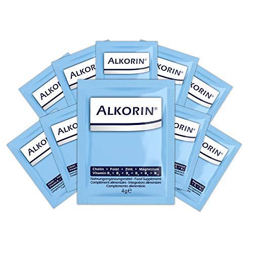 ALKORIN® 10 Sachets - dem nächsten Tag zuliebe. Unterstützt die Leberfunktion mit Cholin. Multivitamin Basenpulver mit Magnesium, Zink, Folsäure, Elektrolyten, Vitamin B1...