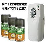 Kenyasafe CUBEX Professional Extra 6 bombole insetticida da 250 ml con erogatore COPYRMATIC