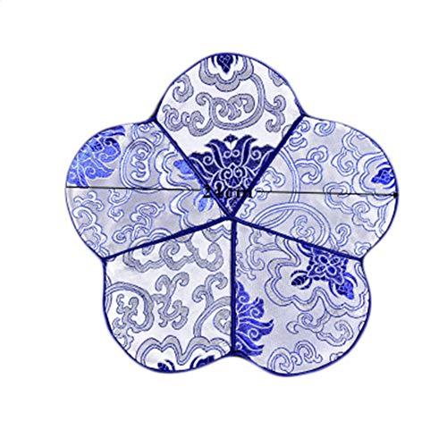 Goddness Bar Tapis de Plateau de thé en Tissu décoratif Coaster Retro Pad Tapis (Style 21)
