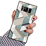 PERRKLD Samsung Galaxy Note 8 Case Green and White Marble Pattern Heavy Duty Protection Shock Absorption Slim Soft TPU Edge and Hard PC Case Cover for Samsung Galaxy Note 8