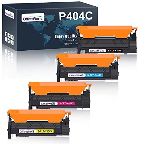 OFFICEWORLD P404C CLT-P404C Cartouche de Toner Compatible pour Samsung CLT-404S CLT-P404S CLT-Y404S CLT-K404S pour Samsung Xpress SL-C480W SL-C480 SL-C430W SL-C483W SL-C480FW (4-Pack)