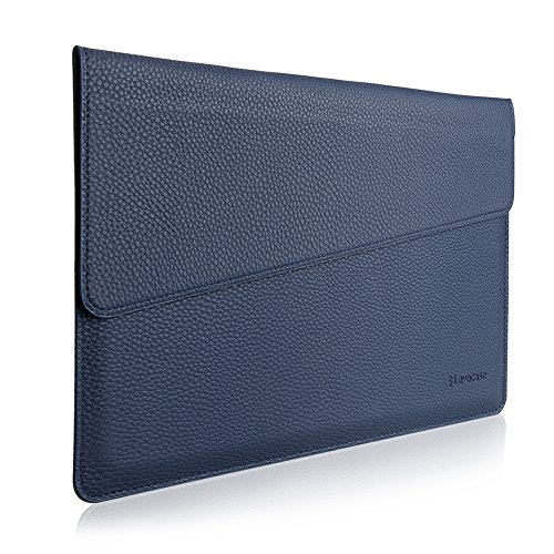 "MacBook 12 Sleeve, Evecase Sottile in Pelle Premium Custodia Portatile per 2015 Nuovo MacBook 12"" con Retina Display - Blu"