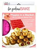 Chef Select Pig in a Blanket Mold, Set of 2, 12 Piggies Each, Non-Stick, Silicone Bake Pan, BPA Free