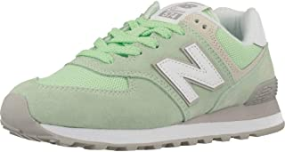 New Balance Womens wl574esm Fabric Low Top Lace Up Fashion Sneakers US