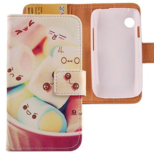 Lankashi PU Flip Leder Tasche Hülle Hülle Cover Schutz Handy Etui Skin Für Wiko Ozzy Lovely Design