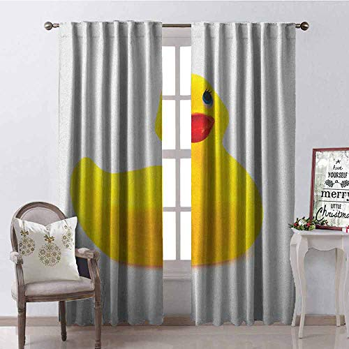 Find Bargain Tapesly Rubber Duck Heat Insulation Curtain Yellow Squeak Ducky Toy Fun Bubble Bath Ani...