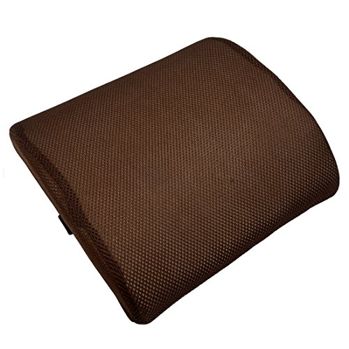 Noblik Memory Foam Seat Chair Lumbar Back Support Cushion Pillow For Office Home Car Light Brown
