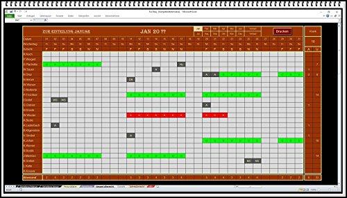 Urlaubsplaner Personalplaner Dienstplaner. Software zur Urlaubsverwaltung Excel 2020 2021 weitere Jahre kostenlos