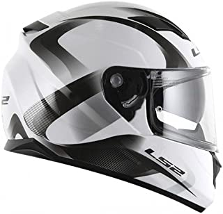 LS2 Velvet Fog Fighter System Helmet (White Grey)