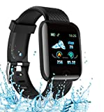 Smart Watch 2020 New Model, Men's and Women's Fitness Tracker, Blood Pressure Monitor, Blood oximeter, Heart Rate Monitor, Waterproof Smart Watch, Compatible with iPhone/Samsung/Android Huawei Phones