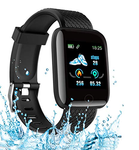 Smart Watch 2020 New Model, Men's and Women's Fitness Tracker, Blood Pressure Monitor, Blood oximeter, Heart Rate Monitor, Waterproof Smart Watch, Compatible with iPhone/ Samsung/ Android Phones