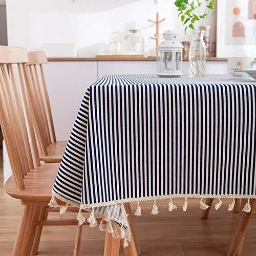XXDD Mantel de algodón de Lino Rectangular Pastoral, Tela de Margarita con Estampado de Flores, paño de Cocina para el hogar, decoración A4 140x200cm