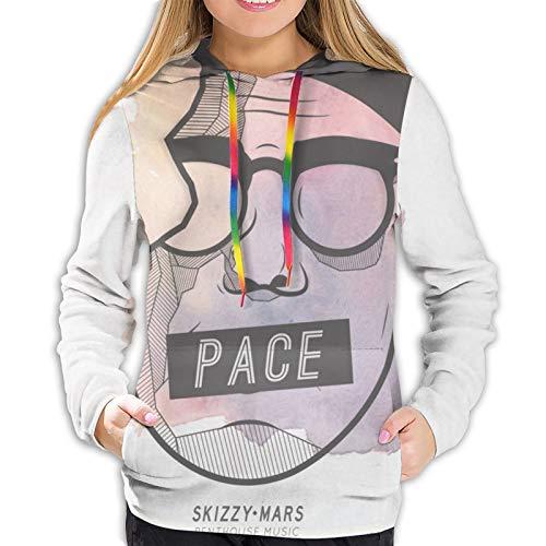 Skizzy Mars Womens Sweatshirts Autumn Winter Leisure Pullover Hoodies Black