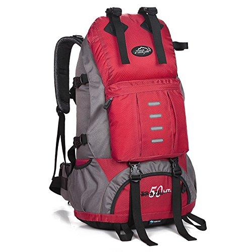 50L Rugzak Wandelen Outdoor Rugzak Sporttas Outdoor Bag rood