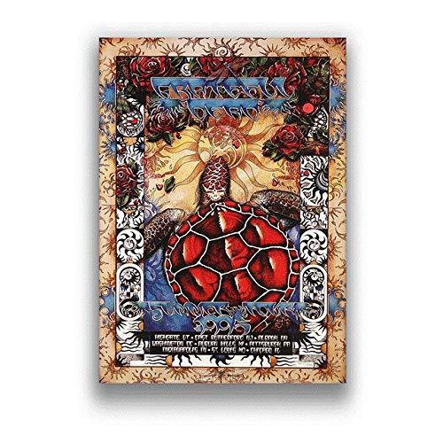 JMHomeDecor Póster De The Grateful Dead, Póster De Música Rock, Lienzo, Pintura, Imagen Impresa, Artista De Pared, Decoración del Hogar, 50X70Cm -Ti1290