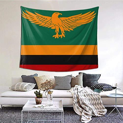 BGDFN Tapisserie, Wandbehang, Dekoration für Schlafsaal, Schlafzimmer, Wohnzimmer, College, 152,4 cm B x 101,6 cm L, Flagge von Sambia