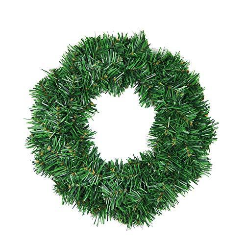 MoGist Corona de Navidad Fácil Verde Christmas Wreath Corona de Navidad para Puerta Corona Árbol de Navidad...