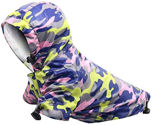 JWCN Camouflage Dog Raincoats Hoodies Verstellbarer Poncho Professionelle wasserdichte Outdoor-Kleidung für große und mittlere Hunde A XXS-Klein_F. Uptodate