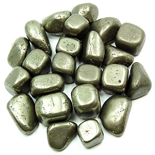 Reiki Crystal Products Natural Pyrite Tumble Stones for Reiki Healing and Vastu Correction Protection Concentration Spirituality and Increasing Creativity Tumble Stones