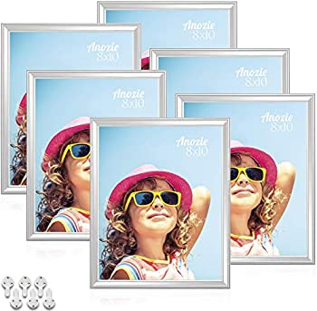 6-Pack Anozie 8X10 Picture Frames for Tabletop or Wall Mount Display