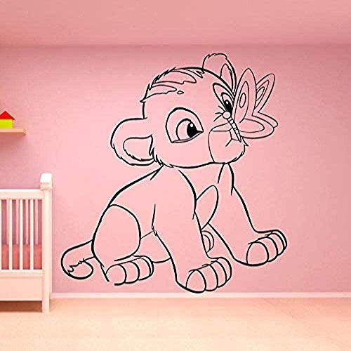 Muursticker,Vinyl muur stickers Lion King Art muur Sticker Home Decor slaapkamer kamer decoratie Cartoon muur Ornament 74 * 75