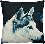 Puccybell Kissenbezug, Kissenhülle, mit Wolf Tiermotiv Digitaldruck, Zierkissen Hülle für Kissen...