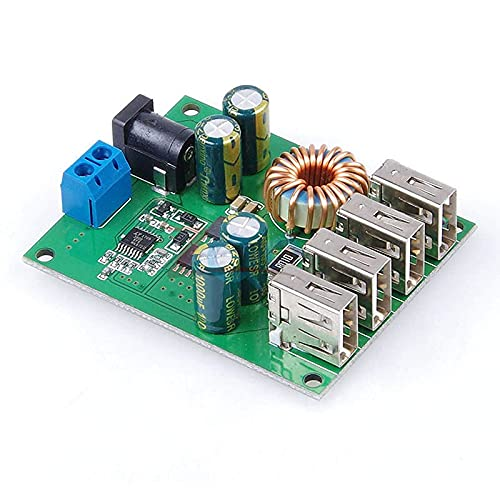 DC DC 7V-60V to 5V 5A 4 Four USB Output Buck Converter Board Step Down Power Supply Module Car Charger High Speed