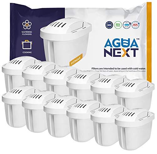 AGUANEXT 12er Pack Wasserfilter Kartuschen MAXTRA + für Brita PerfectFit