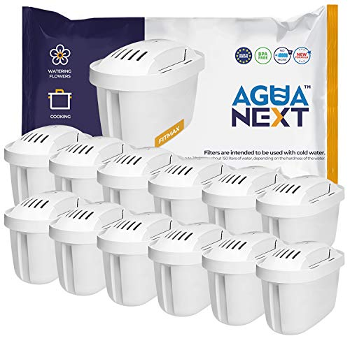 AGUANEXT Wasserfilter Kartuschen 12er Pack kompatibel mit Brita Filterkartuschen Maxtra