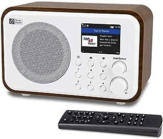 Ocean Digital WiFi radio internetowe WR-336N przenośne radio cyfrowe z akumulatorem, odbiornik Bluetooth, 4 wstępnie ustaw...