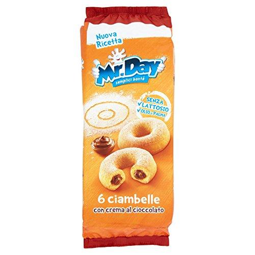 Mr.Day Ciambelle con Crema al Cioccolato - Pacco da 6 x 48 gr - Totale: 288 gr