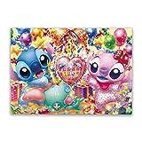 Cute Doormat Lilo And Stitch - Puzzle de 500 piezas, diseño de animales de feliz cumpleaños para adultos y niños a partir de 10 años