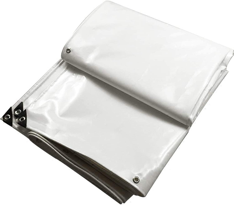 XJZxX 厚い防水シート防水防水シートプッシュプルキャンバス防水日焼け止めpvcナイフこする布駐車場小屋布ホワイト (Size : 7x9m)