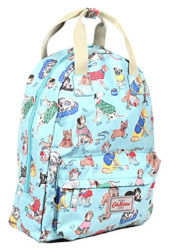 Cath Kidston Backpack Rucksack Dogs in Soft Blue Oilcloth