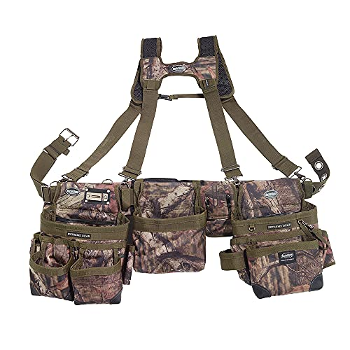 Bucket Boss 3 Bag Tool Bag Set with Suspenders in Mossy Oak Camo, 55185-MOSC