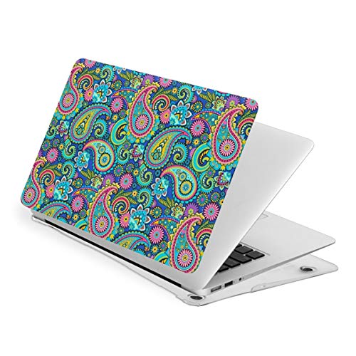 Paisley Bohemian Blue Laptop Cover Protective Case MacBook 13 Air is Suitable A1466 A1369 MacBook New Air13 is Suitable A1932. MacBook 15 Touch is Suitable A1707 A1990